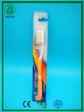 Borracha macia super com o líquido de limpeza de Tongu com o Toothbrush do adulto da embalagem do saco de OPP