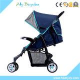 携帯用超軽量のベビーカーはマルチ位置ジョガー横たわるシートの赤ん坊の行く