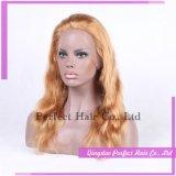 Del merletto della parte anteriore parrucche bionde piene dei capelli umani lungamente