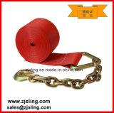 """Trinquete de carga de la correa / de amarre con extensiones W / Cadena de 4 """"x 20 'Red"""