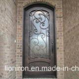 Populäre Sicherheits-bearbeitetes Eisen-einzelne Tür mit Niedrigem-e Glas