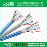 UTP CAT6A com cabo de Ethernet 23AWG de cobre de 0.57mm