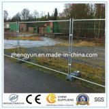 Горячая окунутая гальванизированная загородка конструкции металла временно
