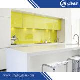 vidrio pintado brillante Tempered amarillo de 10m m para el panel de Splashback