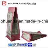 印刷を用いる茶のための正方形の最下のジッパーのプラスチック包装袋