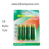 Батарея Lr44 клетки кнопки марганца цинка 0% Hg