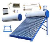 Calentador de agua solar de la presión inferior del acero galvanizado/inoxidable