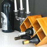 Kundenspezifische Widsom antike Flaschen-Wein-Zahnstangen-hölzerne Zahnstange des Bambus-7 für Hauptspeicherung