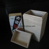 O café de madeira da cor natural de Packagings do presente empacota caixas do chá da madeira contínua
