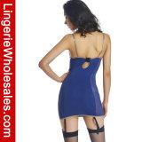Lingerie réglée de chemises de nuit de Chemise Strappy sexy de jarretière de dames avec le détail de lacet