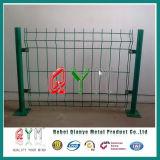 Rete fissa saldata ricoperta vinile verde rivestito della rete metallica Qym-PVC