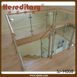Trilhos de vidro do patamar do aço inoxidável para o centro comercial (SJ-S100)