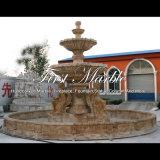 Fontana dorata del travertino per la mobilia Mf-746 del giardino