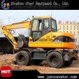 Nuevo excavador hidráulico de la rueda de la tonelada 39.8kw del excavador 8 de China para la venta