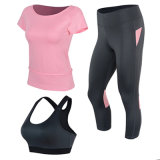 Pink Yoga Wear Nylon Yoga Pants Fournisseur de conditionnement physique