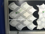 Carrara 이탈리아 백색 대리석 닦고 꽃 디자인 모자이크 타일, 백색, Samp