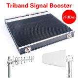 repetidor de 3G 4G Lte, 900+2100+2600 4G aumentador de presión, amplificador de la señal del teléfono celular con AGC Mgc