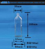 Bottiglia di vetro vuota libera dell'olio di sesamo con la protezione di plastica