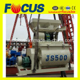 La mayoría del mezclador concreto usado popular Horitontal del eje gemelo de Js500 con precio bajo