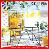 Распределитель опарника напитка заквашивания шестиугольника стеклянный с краном и стойкой