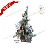 decoração artificial da árvore de Natal do PE de 140cm com luzes do diodo emissor de luz