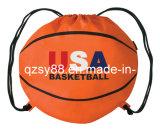 Saco de Drawstring Shaped dos desenhos animados do basquetebol