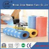 Tissu non-tissé de Spunlace de 13 mailles pour le tissu de nettoyage