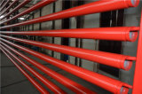 Tubulações pintadas vermelhas do sistema de extinção de incêndios do incêndio do UL FM