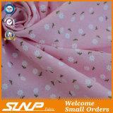 Tela de la camiseta de la impresión del algodón/del Spandex