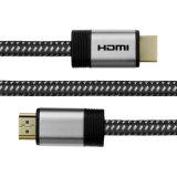 Nylonkabel 4k 2.0 der flechten-HDMI mit umsponnenem Netzkabel 28AWG