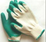 Перчатки безопасности хлопка высокого качества резиновый