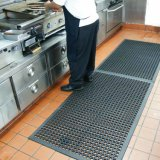 Torneiras de borracha de dissipaçao de cozinha de drenagem de prova de óleo, piso de borracha confortável