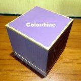 Boîte-cadeau pourprée d'emballage de papier de bougie de qualité