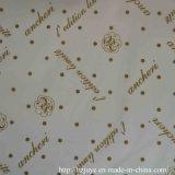 Poliester 100% impreso alineando la tela para la ropa de la manera