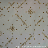 100% poliéster tejido de forro impreso para ropa de moda