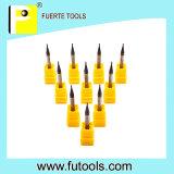 2 deux outils de fraisage carrés de carbure solide micro de diamètre de cannelures