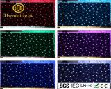 SMD5050 RGB 3 em 1 cortina Tricolor da estrela do diodo emissor de luz de pano para a mostra do banquete de casamento do contexto do estágio