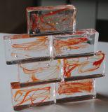 Colorir o tijolo de vidro contínuo/bloco de vidro contínuo da cor