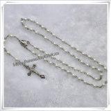 Materiale differente dei branelli e rosario di vetro cattolico del san (IO-cr002)