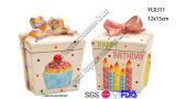 O frasco cerâmico dos doces da caixa de presente ajustou-se para a venda por atacado