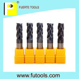 4 flauta Solid Tungsten Carbide Extremo Mill para Metal Cutting