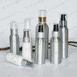 Frasco cosmético de alumínio feito sob encomenda com a bomba da loção do pó (PPC-ACB-006)