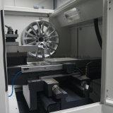 Tipo máquina do PC do torno do CNC do reparo da roda da liga do corte do diamante