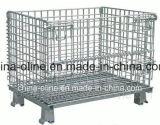 Rollo de acero del metal cesta de alambre / la jaula de Storgae