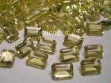 Octagon natural 5X7mm de quartzo do limão para a jóia que ajusta o preço barato