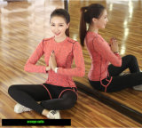 Ternos alaranjados feitos sob encomenda da ioga da boa qualidade
