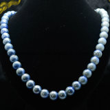 女性のゲルマニウムの最新のデザインはネックレスの電気石のネックレスの宝石類に玉を付ける