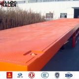 中国の平床式トレーラーが付いている新しい製造40t 3の車軸トレーラー