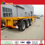 Skeleton Container Truck Semi Trailer Chassis mit Small Gooseneck