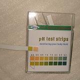 tiras do medidor de pH para o teste do líquido de corpo e da água bebendo
